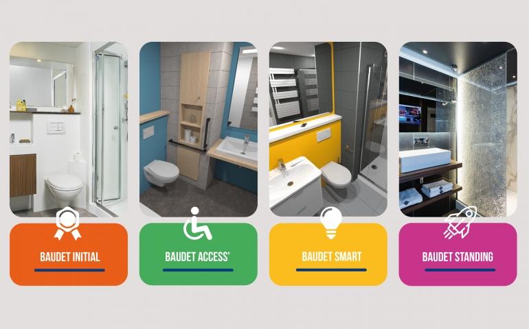 gamme baudet salle de bain préfabriquée logement santé hôtellerie