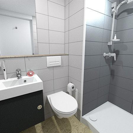salle de bain carrelée gamme smart préfabrication logement